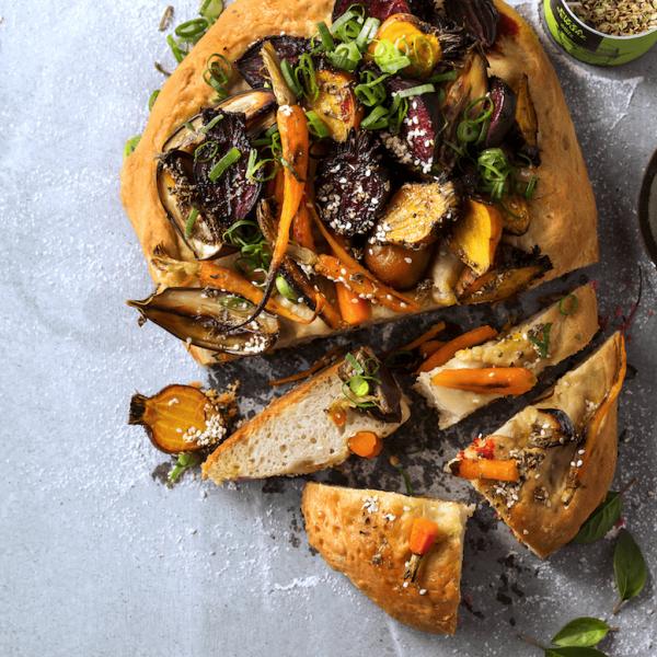 Gemüse Pizza Brot