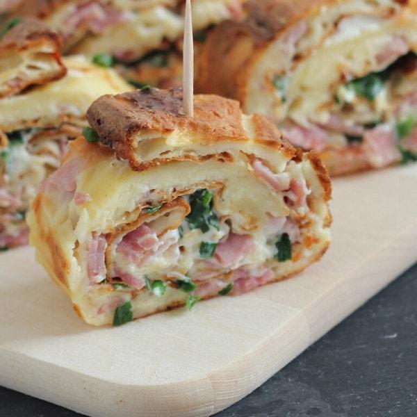 Käse-Schinken-Pfannkuchen (aus dem Ofen)
