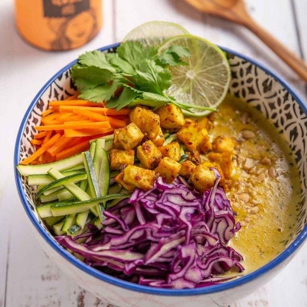 Schnelle Kokossuppe mit Tofu