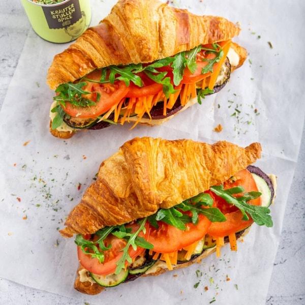 Gefüllte Gemüse Croissants