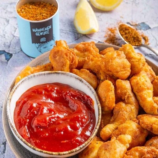 Chicken Nuggets mit Süß-Sauer-Soße