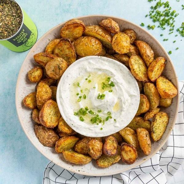 Ofenkartoffeln mit Kräuter Quark