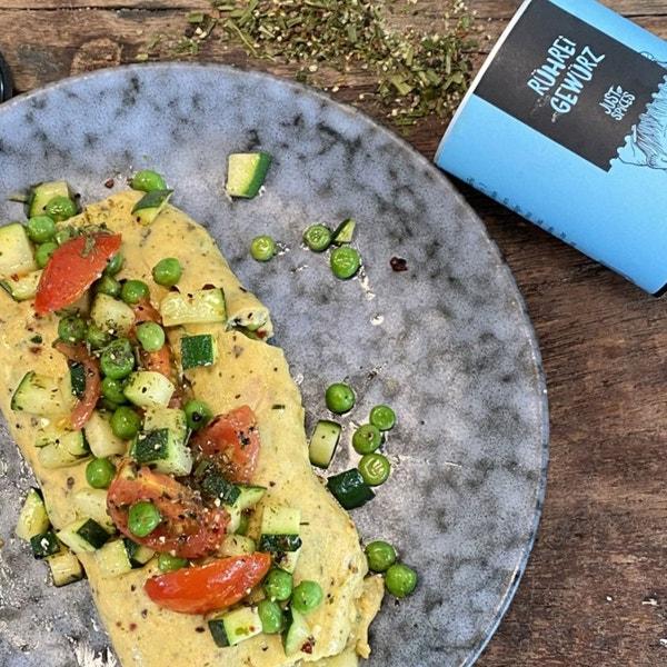 Omelette mit buntem Gemüse