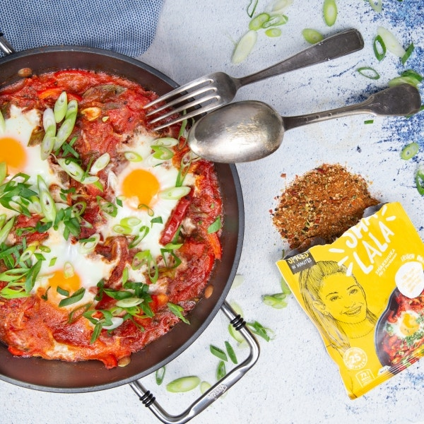 Einfaches Tomaten Paprika Shakshuka