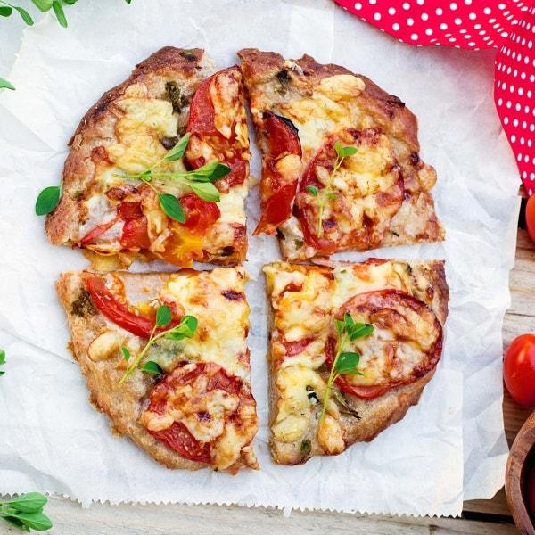 Pizza aus Vollkornteig