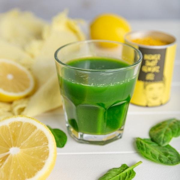 Spinat-Zitronen Ingwershot