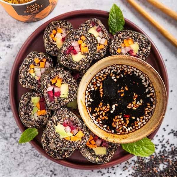 Schwarzes Quinoa Sushi