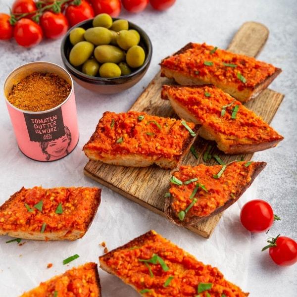 Baguette mit Tomatencreme
