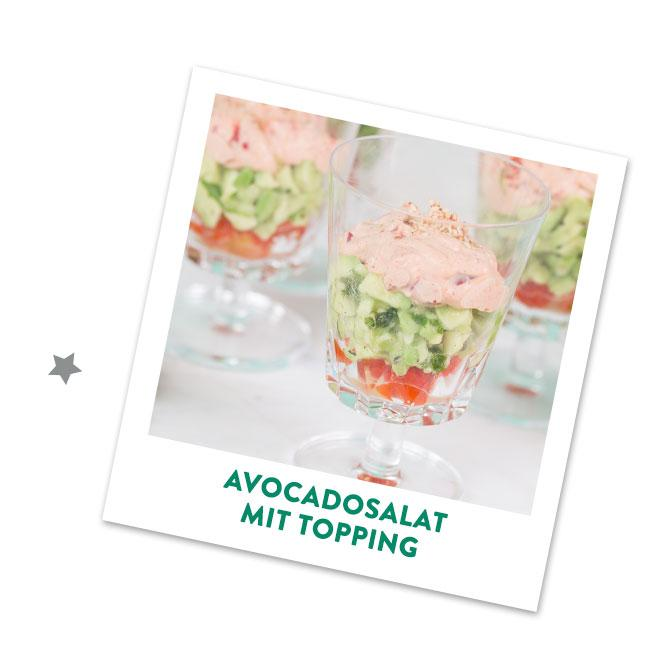 Avocadosalat im Glas