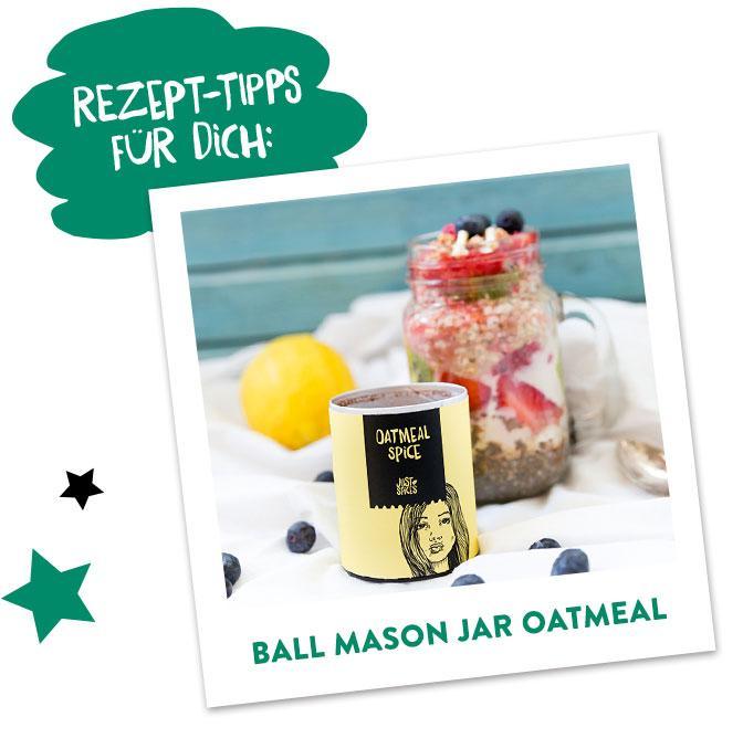Ball Mason jar Oatmeal