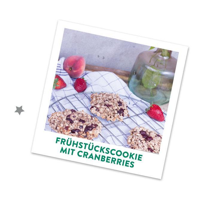 Frühstücks Cookies mit Cranberries