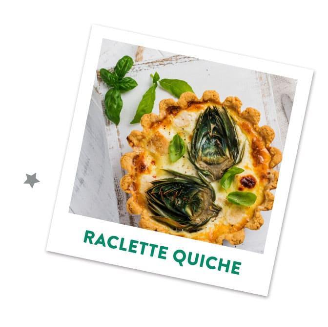 Raclettekäse Quiche mit Pilzen