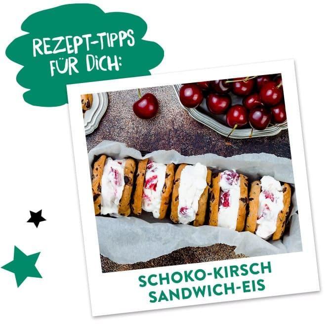 Schoko Kirsch Sandwich Eis