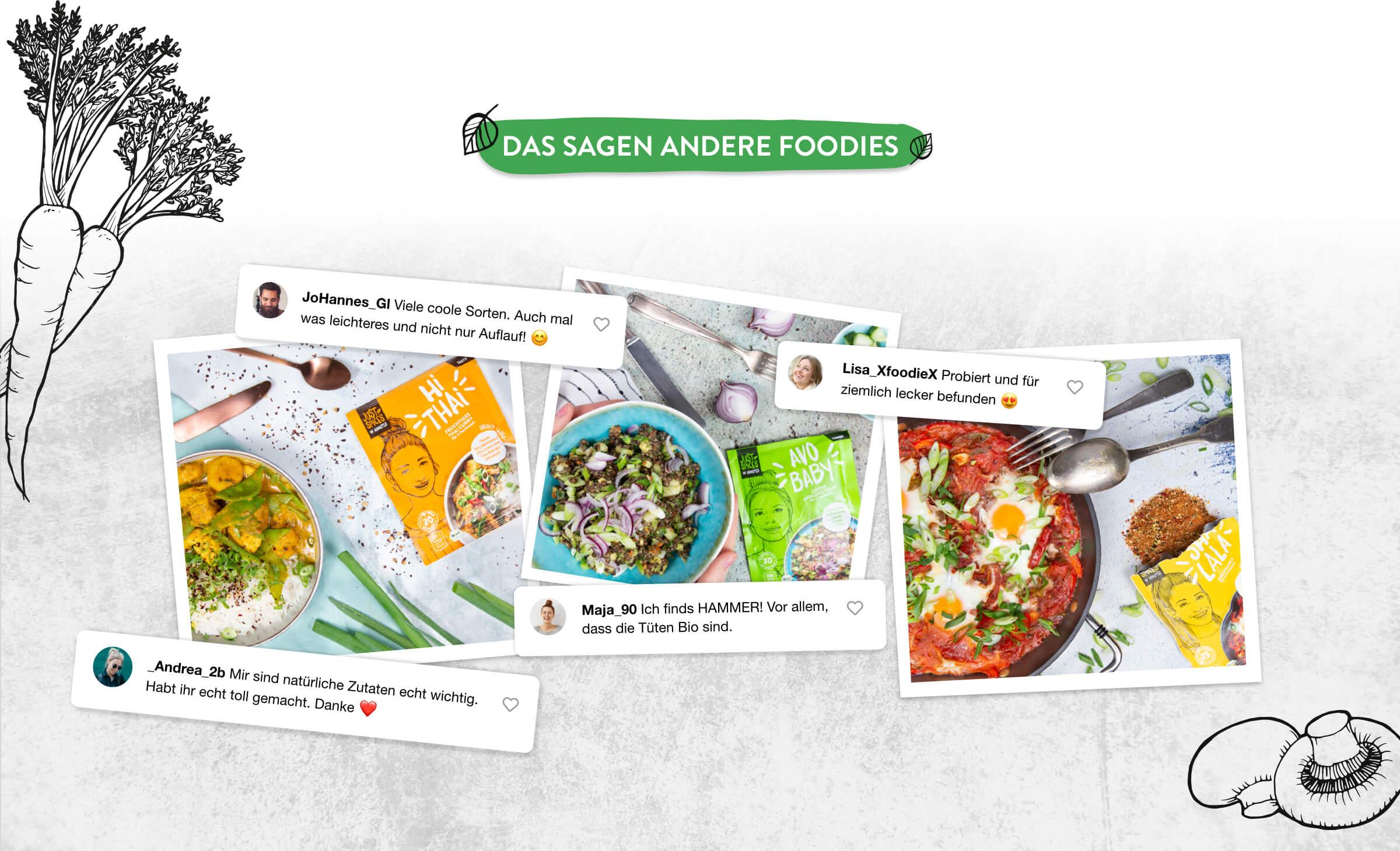 In Minutes - Das sagen andere Foodies